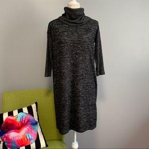 Gap Grey Oversized Turtleneck Sweater Dress